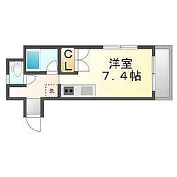 香川県高松市番町3丁目の賃貸アパートの間取り