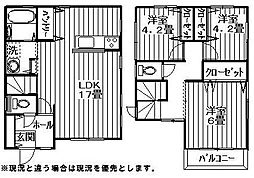 [一戸建] 神奈川県相模原市南区上鶴間本町4丁目 の賃貸【/】の間取り