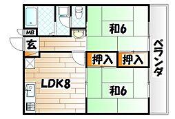銀座ハイツ[3階]の間取り