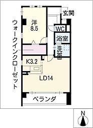 パティオ覚王山[5階]の間取り