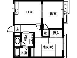 大阪府堺市南区高尾3丁の賃貸アパートの間取り