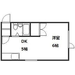 第2コスモハイツ[2階]の間取り