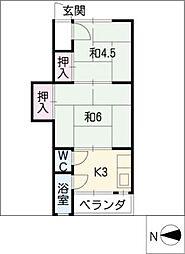 八百伊マンション[2階]の間取り