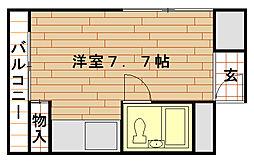 アルカディア六甲[2階]の間取り