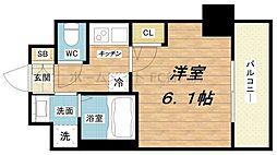 エステムコート梅田北IIゼニス[2階]の間取り