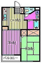 高橋ハイツ[2階]の間取り