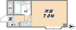 大阪府東大阪市吉松1丁目の賃貸マンションの間取り