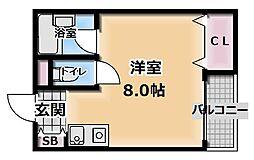 リベルテ古川橋[2階]の間取り