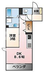(仮称)花園町D−room[2階]の間取り