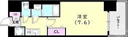 神戸市西神・山手線 上沢駅 徒歩3分の賃貸マンション 8階1Kの間取り