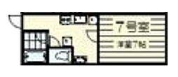 宮城県仙台市若林区河原町2丁目の賃貸アパートの間取り