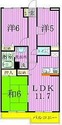 ソレイユ松戸[1階]の間取り