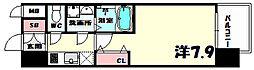 エスリード神戸三宮ノースゲート[2階]の間取り