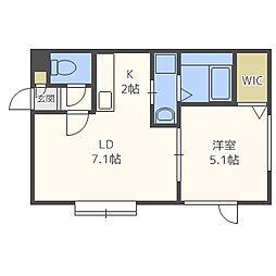 M521[2階]の間取り