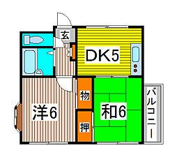 DRホームズ蕨Ⅱ[2階]の間取り