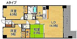 メゾンドデラッセ住ノ江安立[4階]の間取り