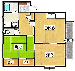 ミモザMURATA[2階]の間取り