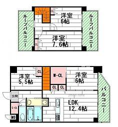 グランフィオーレESAKA[4階]の間取り