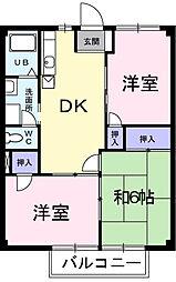 埼玉県三郷市戸ケ崎2丁目の賃貸アパートの間取り