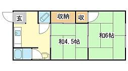 若竹荘[2号室]の間取り