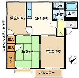 第5岡野ハイツ 205[2階]の間取り