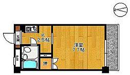 エクシード高木瀬[202号室]の間取り