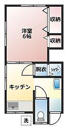 三堀アパート[2階]の間取り
