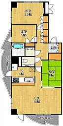 インターフェルティR2甲子園[14階]の間取り