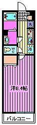 リブリ・Daimon[203号室]の間取り