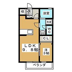 カサヴェルデ弐番館[2階]の間取り