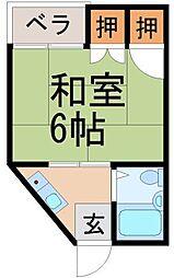 広島県広島市東区若草町の賃貸マンションの間取り