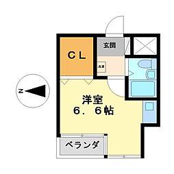ベーカーST221B[1階]の間取り
