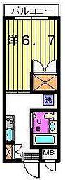第三カトレアハイツ[1階]の間取り