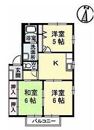 香川県高松市国分寺町国分の賃貸アパートの間取り