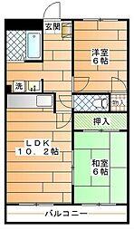 フリーデンマンション[103 号室]の間取り