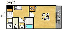 M'PLAZA住吉公園弐番館[7階]の間取り