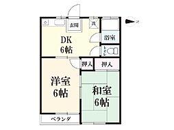 丸恵荘[2階]の間取り