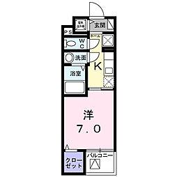 シェモワ 八尾 3階1Kの間取り