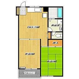 Prime Homes[401号室]の間取り
