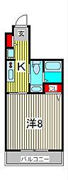 CROSS COURT NAMIKI[4階]の間取り