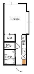 ハイツ荒井[1階号室]の間取り