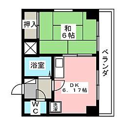 大嶽弥富マンション[4階]の間取り