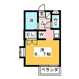 メゾンド喜多山[2階]の間取り