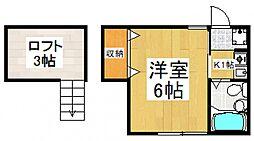 クレストアサカII[2階]の間取り