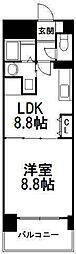 FLAT−A[6階]の間取り