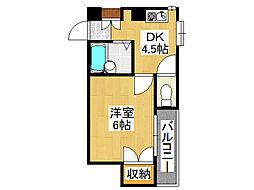 ラパンジール恵美須III[7階]の間取り