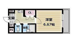 大阪府東大阪市永和2丁目の賃貸マンションの間取り