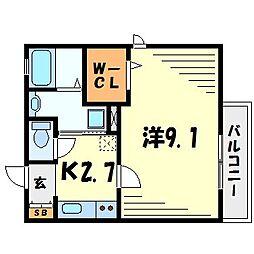セッテ・ピーノ北館・南館[1階]の間取り