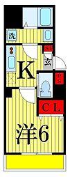 b'CASA Kameari[1階]の間取り