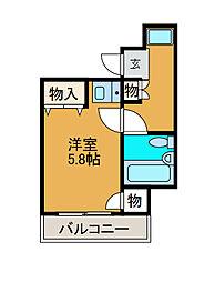 ライオンズルーセント町田[9階]の間取り